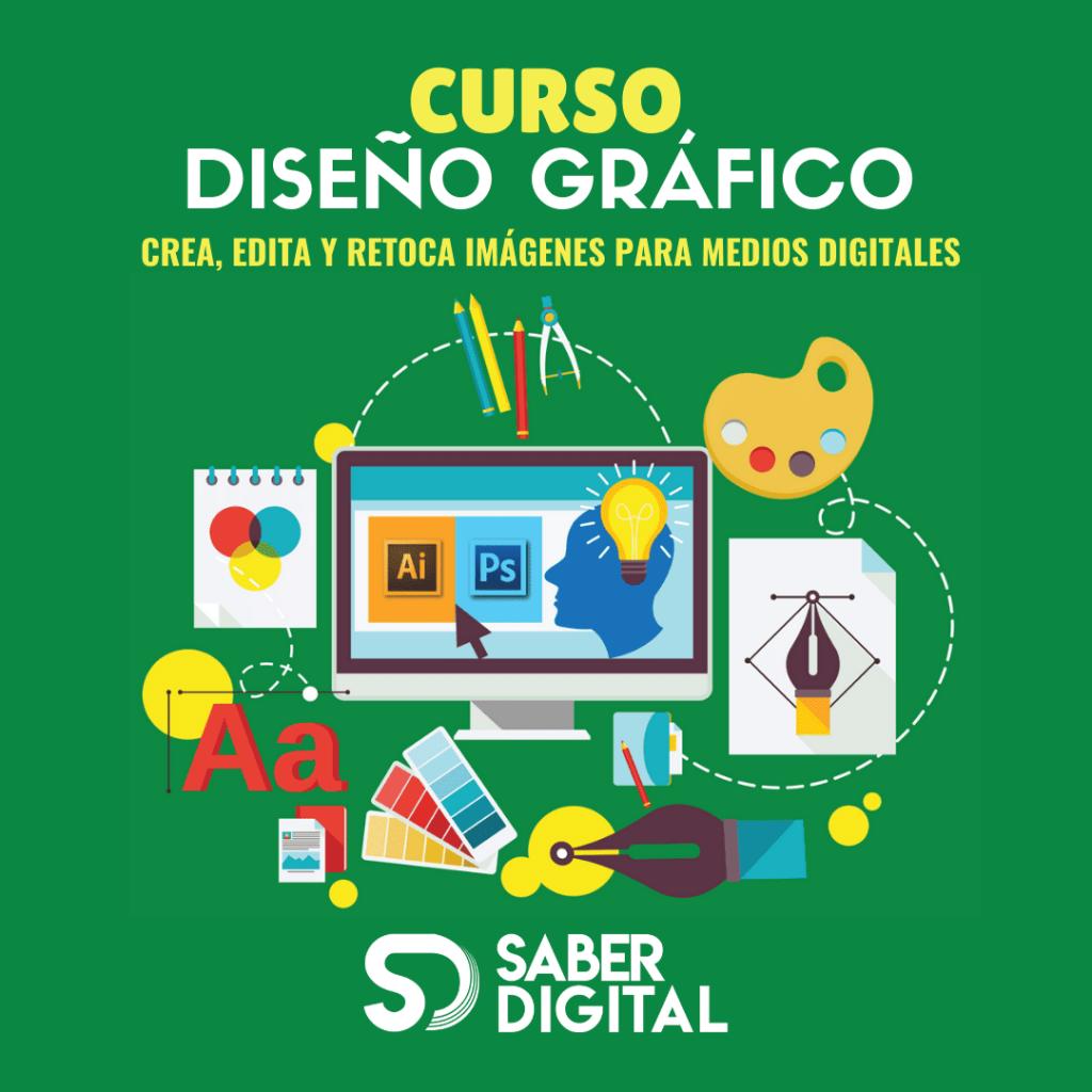 Curso Diseño gráfico digital - online y presencial - Saber Digital Academia
